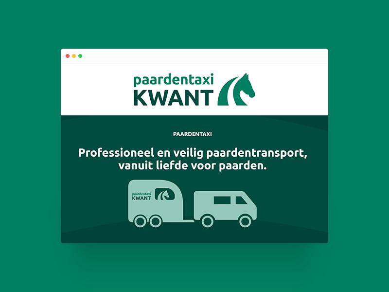 portfolio pagina Paardentaxi Kwant